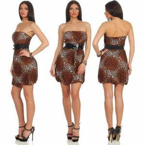 Leopard-Minikleid-Gürtel