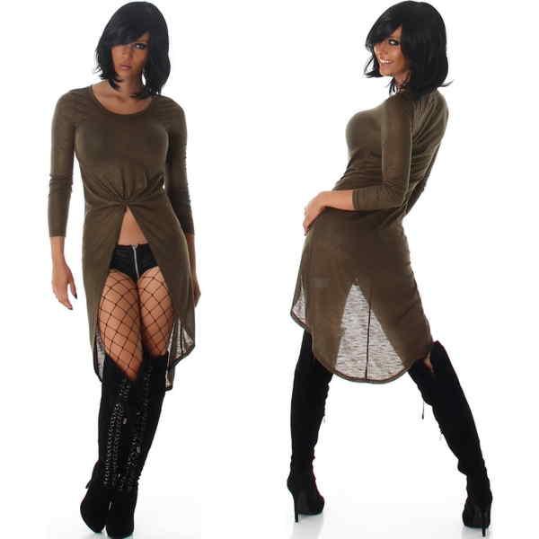 vokuhila kleid shirt longshirt glitzer dance club party 34 36 38 40 xs s m ebay. Black Bedroom Furniture Sets. Home Design Ideas