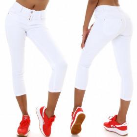 Jela London Damen High-Waist Capri Jeans 7/8 Stretch...