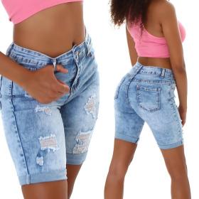 Jela London Damen Jeans-Shorts Denim Stretch Skinny