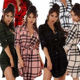 Jela London Damen Oversize Bluse Holzfäller-Hemd...