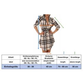 Jela London Damen Oversize Bluse Holzfäller-Hemd Taillengürtel Stretch 36