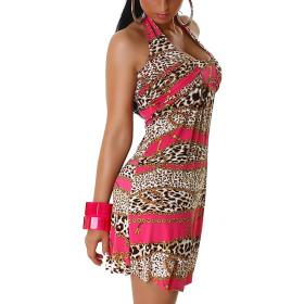 Neckholder Sommerkleid, Chain Pink
