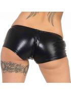 Jela London Hotpants metallic mit Reißverschluss, Schwarz 32-36