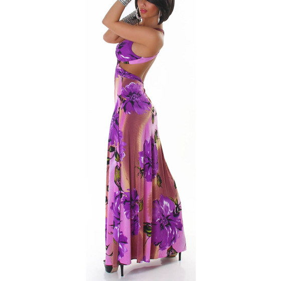 Schulterfrei-Maxikleid Purple X6