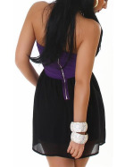 Bandeau Push-Up Kleid Chiffon, Purple L