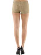 Push-Up Leoparden Hotpants Shorts Panty, Beige, 34 36