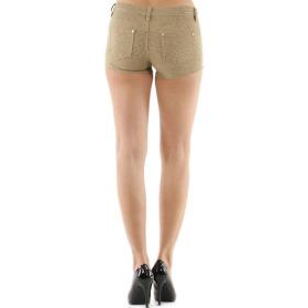 Push-Up Leoparden Hotpants Shorts Panty, Beige, 38 40