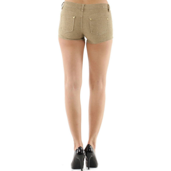 Push-Up Leoparden Hotpants Shorts Panty, Beige, 40 42