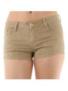 Push-Up Leoparden Hotpants Shorts Panty, Beige, 40 42