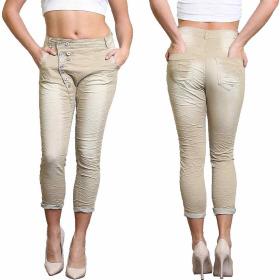 Blue Rags Stretch Jeans Waschung & Knopfleiste Capri...