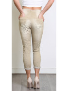 Blue Rags Capri Baggy Jeans Waschung & Knopfleiste, 34 36