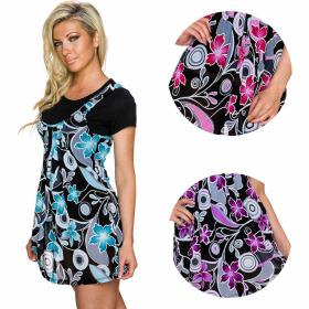 Charbell T-Shirt mit aufgesetztem Kleid Blumenmusterung...