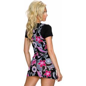 Charbell 2-in-1 T-Shirt & Mini-Kleid Stretch geblümt, Pink M