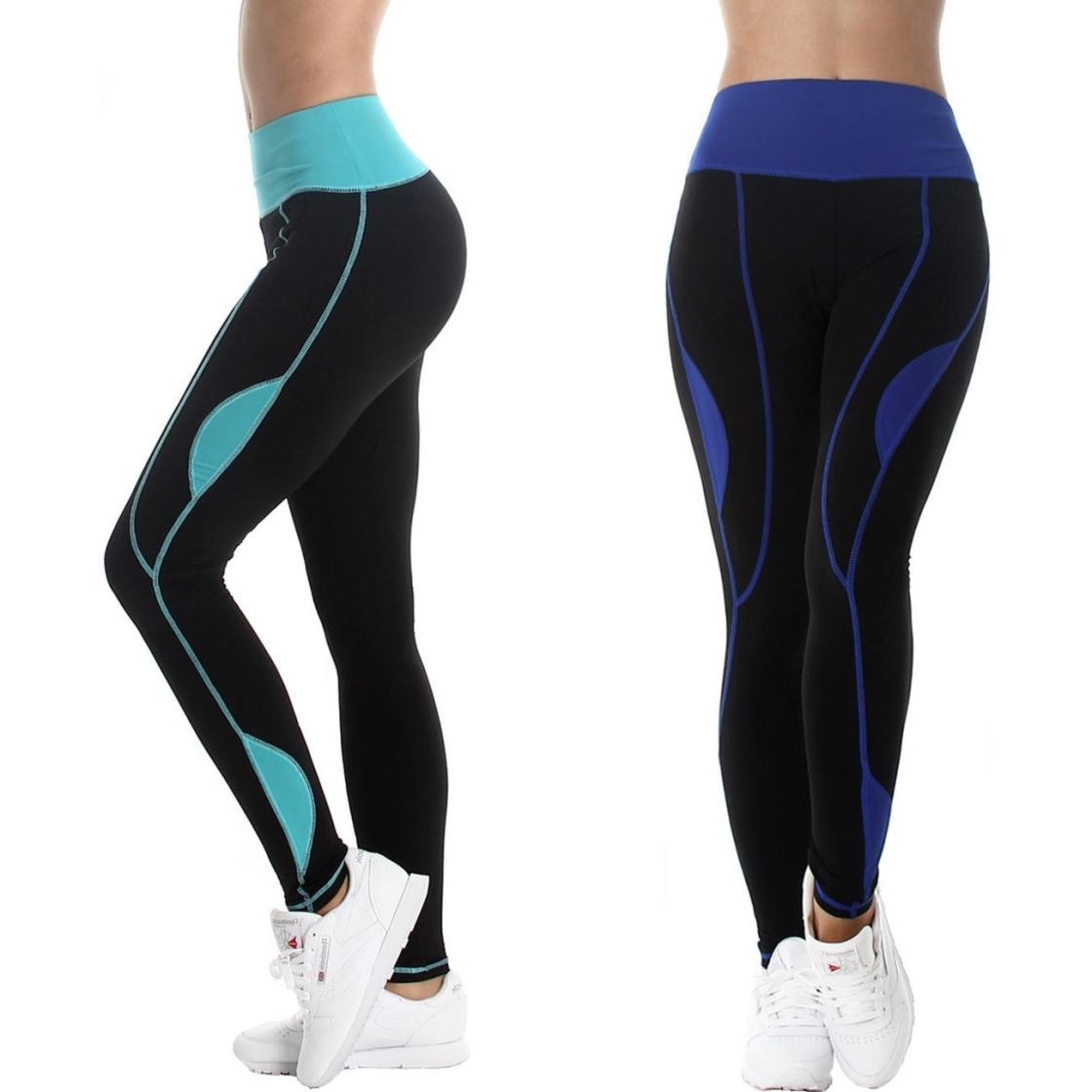 boxin damen sport leggings lang hoher bund schwarz mit. Black Bedroom Furniture Sets. Home Design Ideas