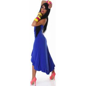 Jela London Vokuhila Tanzkleid Latin Salsa Rock Wickeloptik, Blau