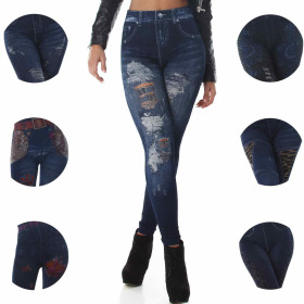 SL1 High-Waist Jeggings Jeans-Look Destroyed-Style (36-38)