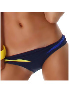 Push-Up Plunge Bikini-SLIP mit Farbspiel Blau 32/34 (42/DE 36)