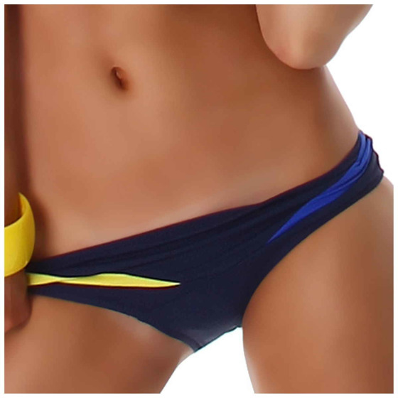 Push-Up Plunge Bikini-SLIP mit Farbspiel Blau 38/40 (48/DE 42)