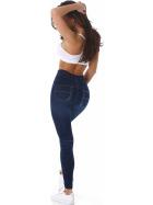 SL1 High-Waist Jeggings Leggings Jeans-Look Farbklecks, Big Foot