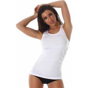 Voyelles Fitness-Top Tanktop Sport (32/34/36) Weiß