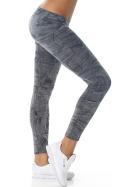 7/8 Capri Print-Leggings Jeans-Look Jeggings, Schwarz