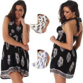 Voyelles Damen Neckholder Sommer-Kleid Retro...