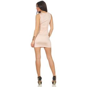 Voyelles Damen Minikleid Sommmer Etui Stretch Spitze, Rosa 36 38