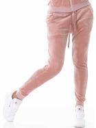 Jela London Damen Velours Samt Jogginghose  Freizeithose Rosa 38 40 (L)