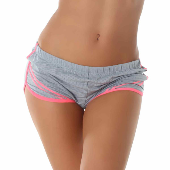 Snow Rose Damen Sexy Sommer Hotpants Shorts Neon Grau