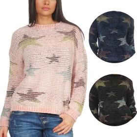 StyleLightOne Damen Kuschel-Pullover Sternen-Motiv...
