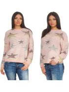 StyleLightOne Damen Kuschel-Pullover Sternen-Motiv zart 36-40, Rosa