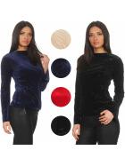 StyleLightOne Damen Dünner Glitzer-Pullover Sweatshirt Stretch (S M L)