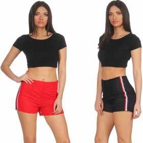 StyleLightOne Damen High-Waist Netz-Shorts Hoher Bund...