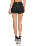 StyleLightOne High-Waist Netz-Shorts Hotpants Streifen, 36 (S) Schwarz