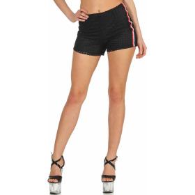 StyleLightOne High-Waist Netz-Shorts Hotpants Streifen, 38 (M) Schwarz