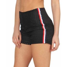 StyleLightOne High-Waist Netz-Shorts Hotpants Streifen, 40 (L) Schwarz