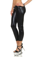 StyleLightOne Damen Wetloook Leggings GoGo Glossy metallic (34/36)