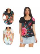 StyleLightOne Damen T-Shirt Stretch Glitzer-Steinchen (36-46)