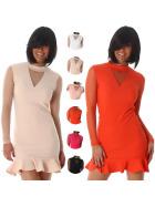 StyleLightOne Damen Minikleid Netz Stretch Volant Club Cocktail (34-40)