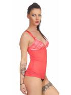 StyleLightOne Damen Negligé Nachthemd Stretch, Apricot 34 36 (S)