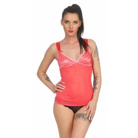 StyleLightOne Damen Negligé Nachthemd Stretch, Apricot 40 42 (XL)