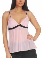 StyleLightOne Damen Negligé Nachthemd Stretch, Rosa 34 36 (S)
