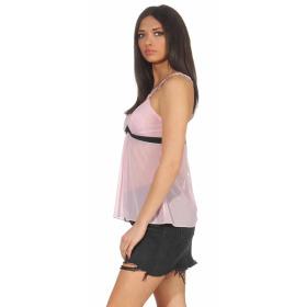 StyleLightOne Damen Negligé Nachthemd Stretch, Rosa 40 42 (XL)