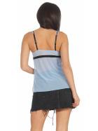 StyleLightOne Damen Negligé Nachthemd Stretch, Hellblau 36 38 (M)