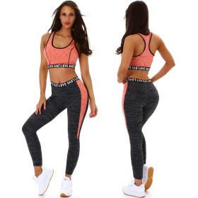 StyleLightOne Damen Fitness Sport-Set Zweiteiler Stretch...
