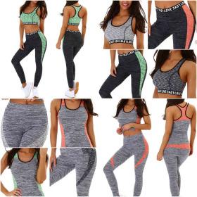 StyleLightOne Damen Fitness Sport-Set Zweiteiler Stretch High-Waist 36