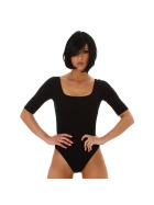 Jela London Damen Sexy Sommer-Body Tiefer Ausschnitt Stretch, Schwarz 36 (M)