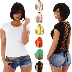 StyleLightOne Damen Sexy Sommer Shirt Häkelspitze...