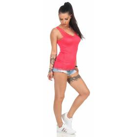 StyleLightOne Damen Dünnes Tank-Top Spitze Stretch, Apricot 36 38